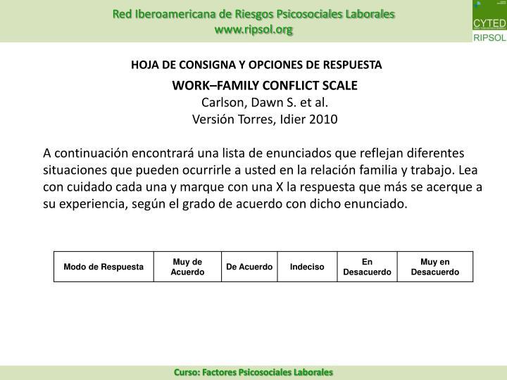 HOJA DE CONSIGNA Y OPCIONES DE RESPUESTA