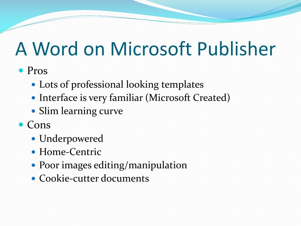 A Word on Microsoft Publisher