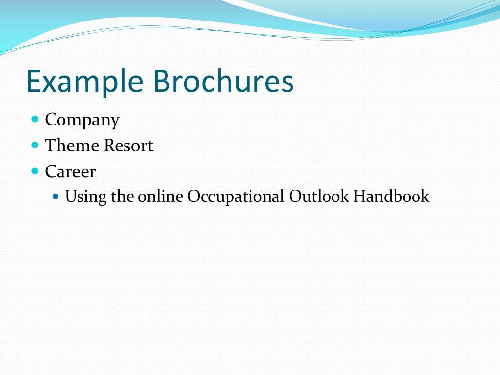 Example Brochures