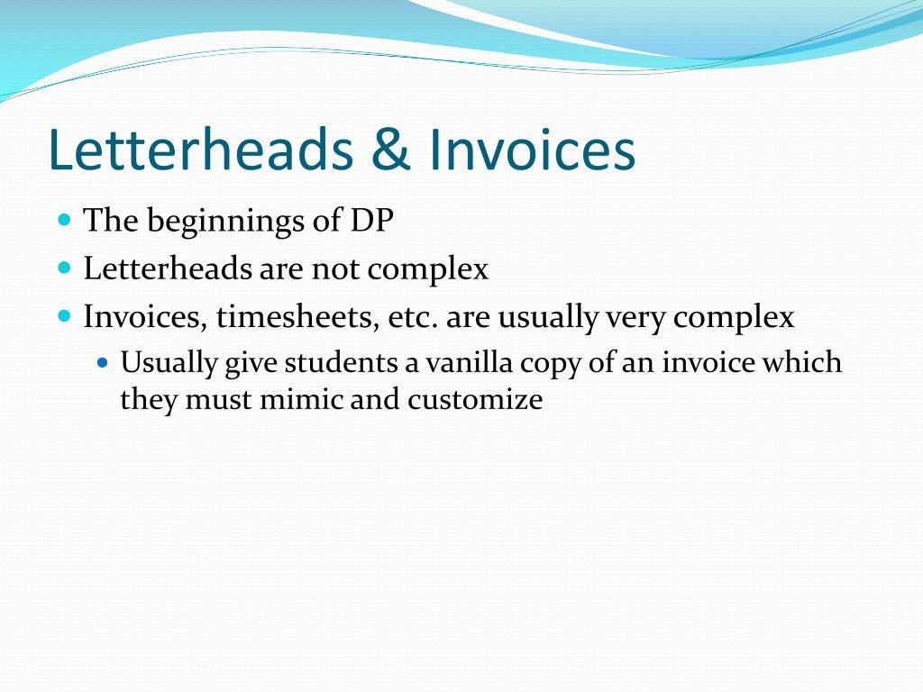 Letterheads & Invoices