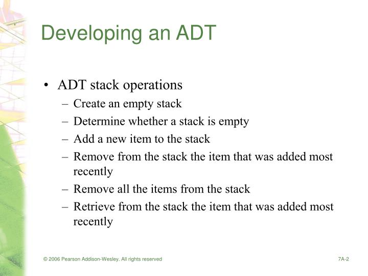 Developing an adt