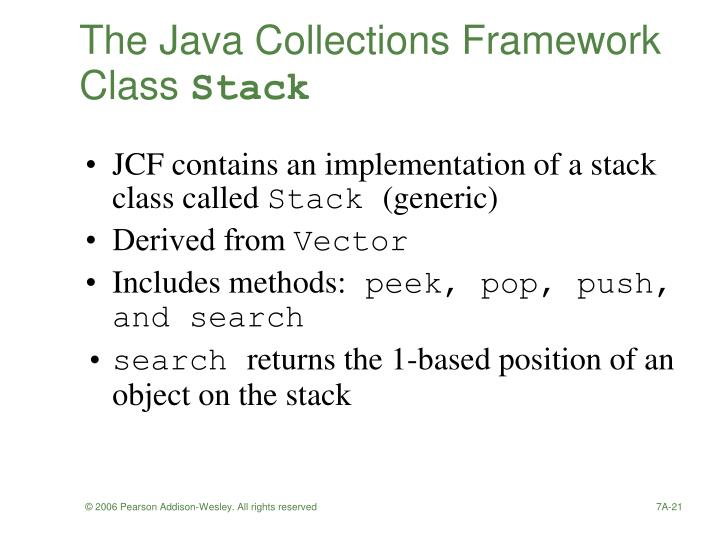 The Java Collections Framework Class