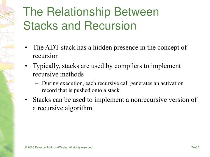 The Relationship Between Stacks and Recursion