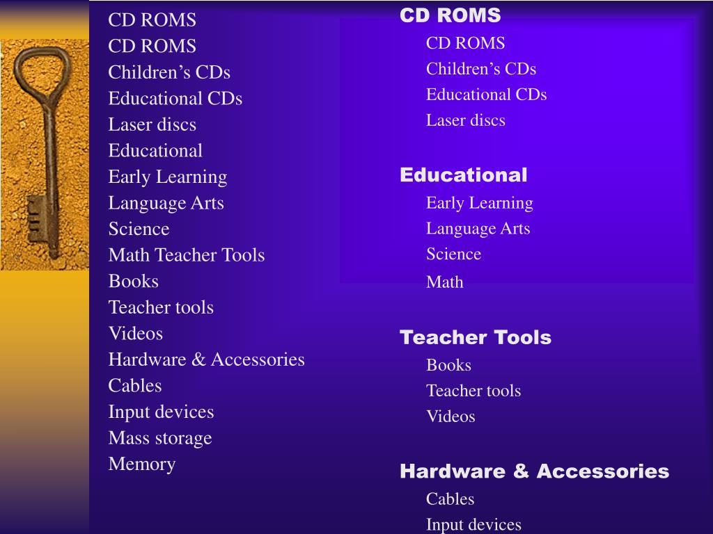 CD ROMS
