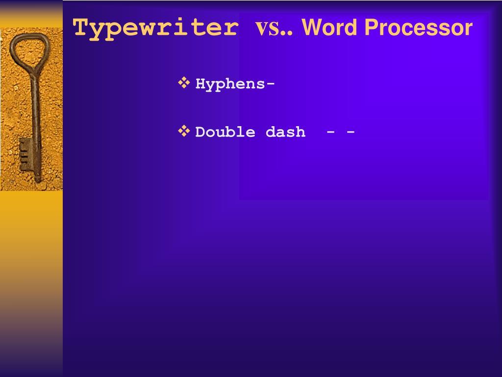 Hyphens-