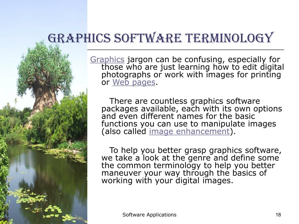 Graphics Software Terminology