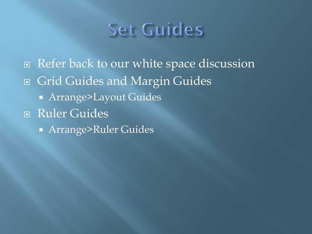 Set Guides