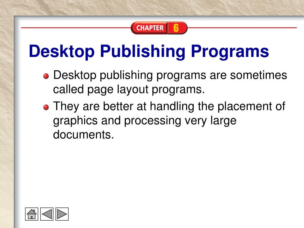 Desktop Publishing Programs