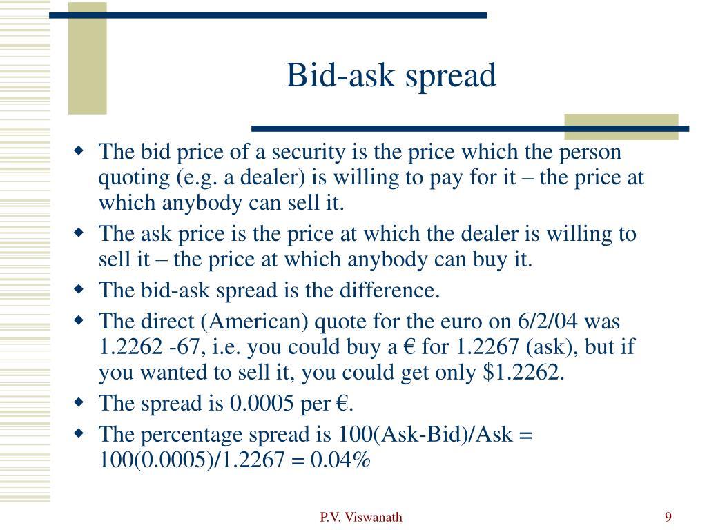 Bid-ask spread