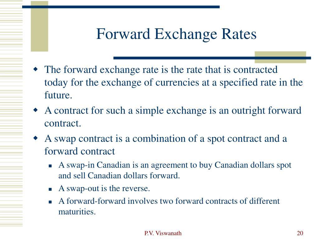 Forward Exchange Rates