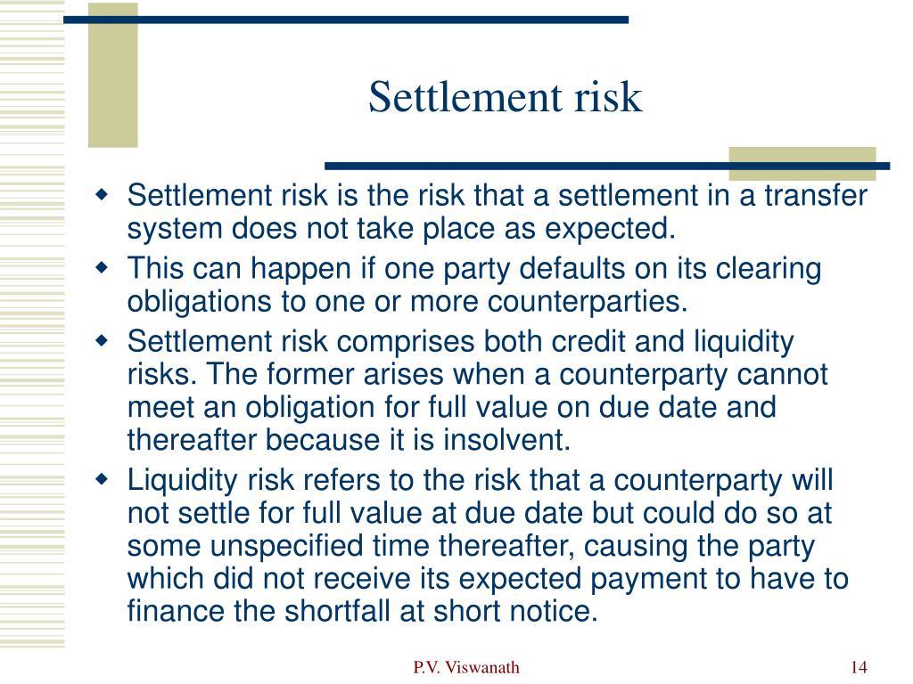 Settlement risk