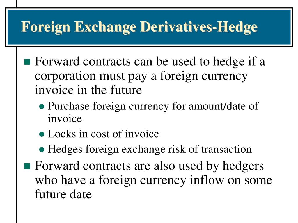 Foreign Exchange Derivatives-Hedge