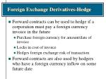 foreign exchange derivatives hedge29
