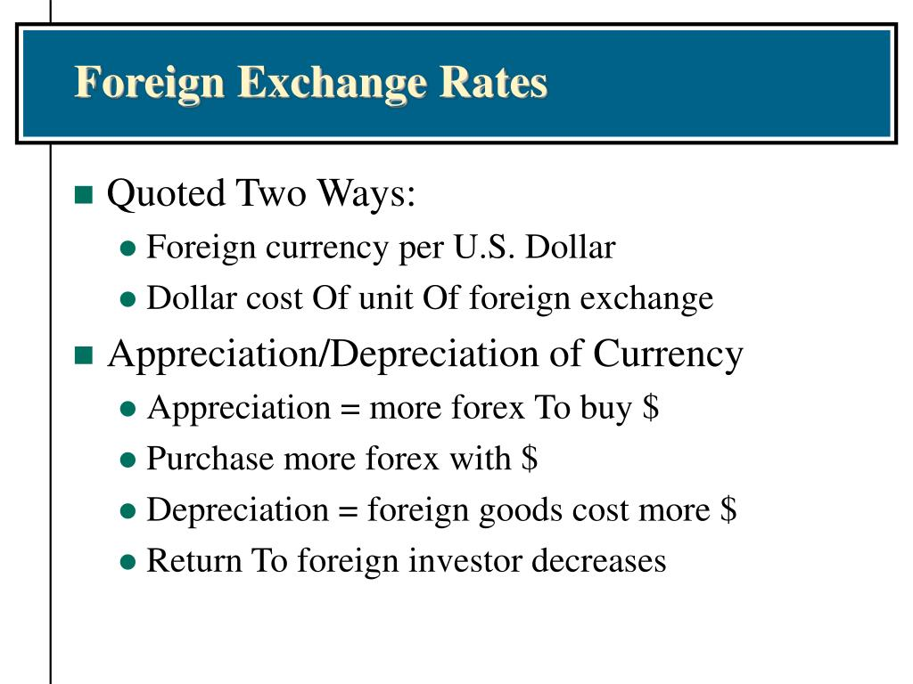 Foreign Exchange Rates