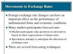 movements in exchange rates