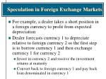 speculation in foreign exchange markets