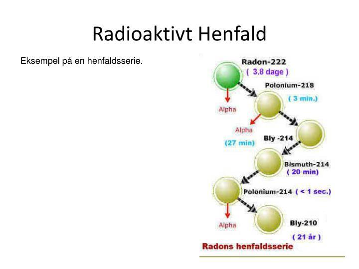 Radioaktivt Henfald