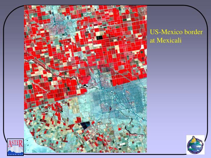 US-Mexico border at Mexicali