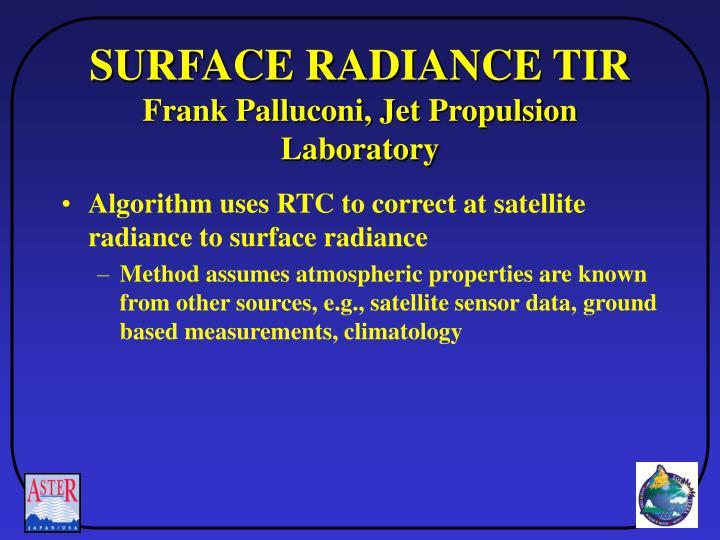 SURFACE RADIANCE TIR