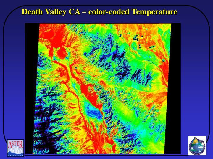 Death Valley CA – color-coded Temperature