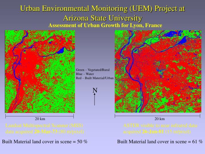 Urban Environmental Monitoring (UEM) Project at Arizona State University
