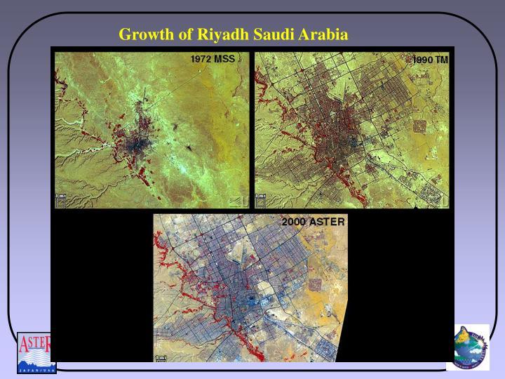 Growth of Riyadh Saudi Arabia