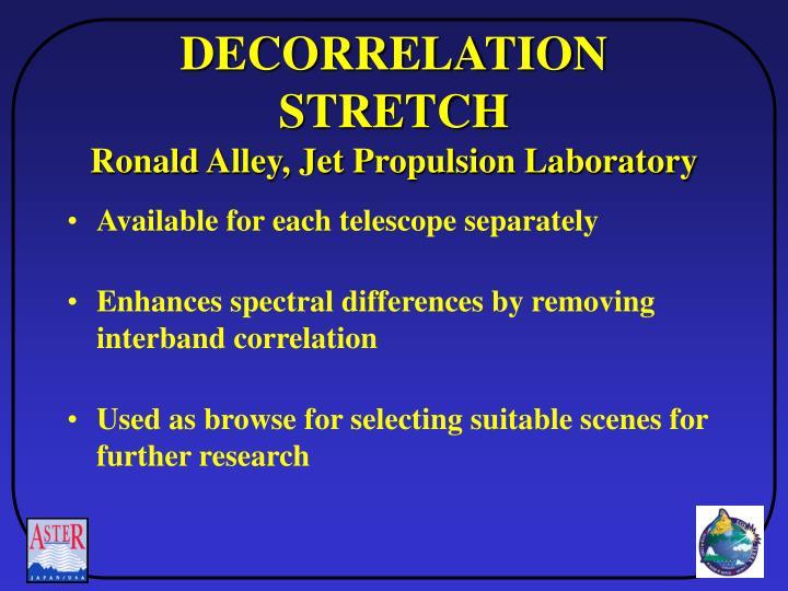 DECORRELATION STRETCH