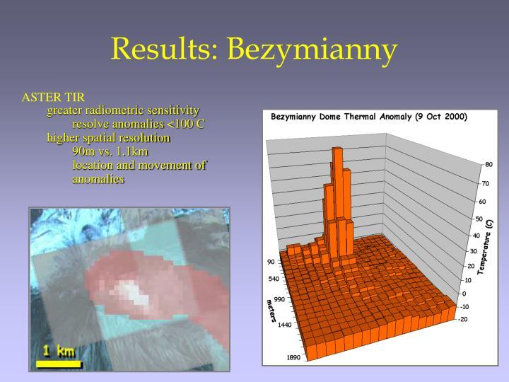 Results: Bezymianny