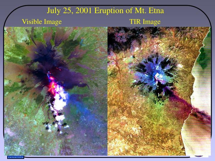 July 25, 2001 Eruption of Mt. Etna