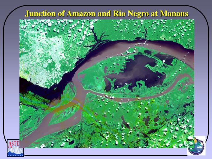 Junction of Amazon and Rio Negro at Manaus