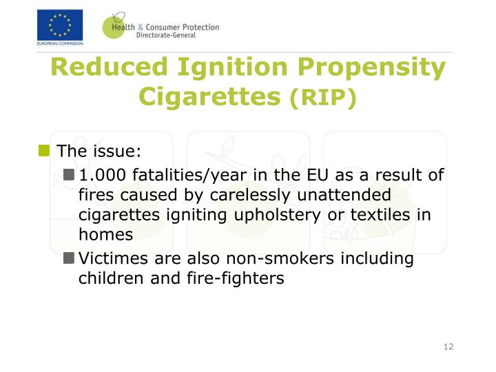 Reduced Ignition Propensity Cigarettes