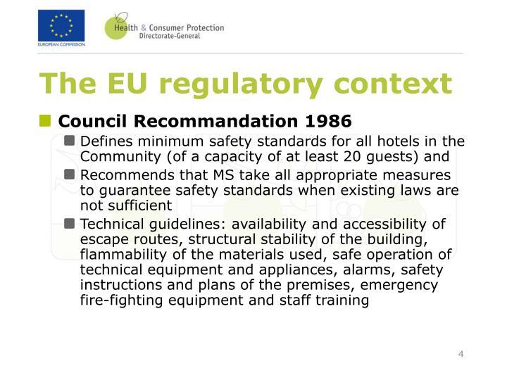 The EU regulatory context
