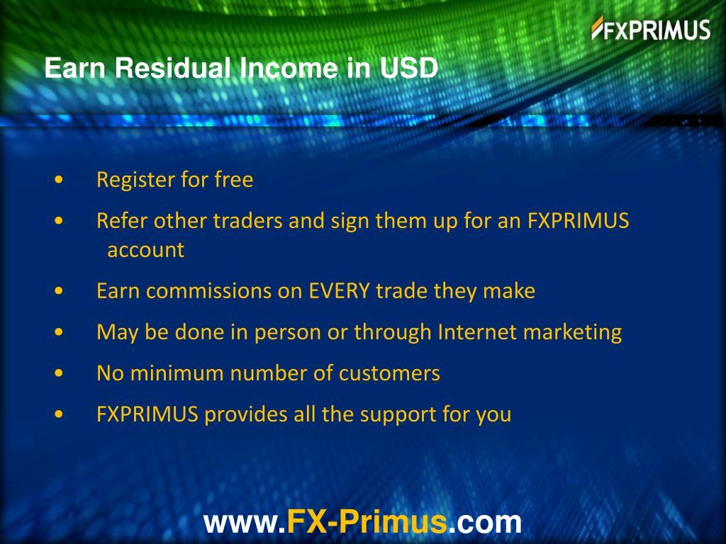 Earn Residual Income in USD