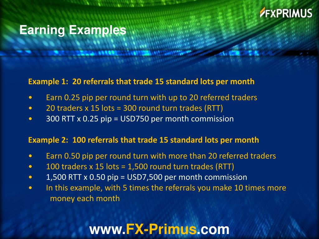 Earning Examples