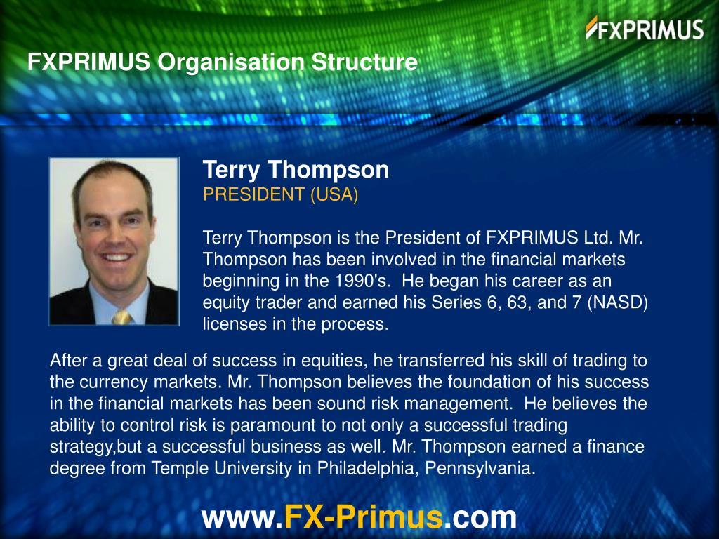 FXPRIMUS Organisation Structure