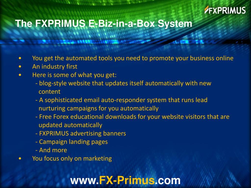 The FXPRIMUS E-Biz-in-a-Box System