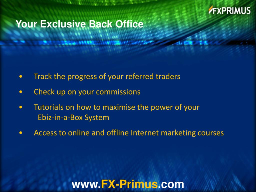Your Exclusive Back Office