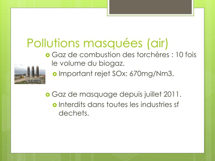 Pollutions masquées (air)