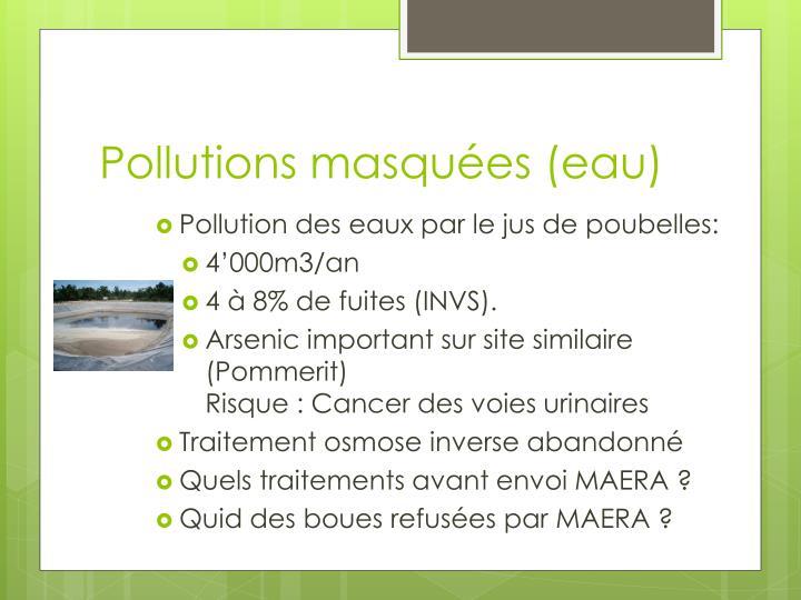 Pollutions masquées (eau)