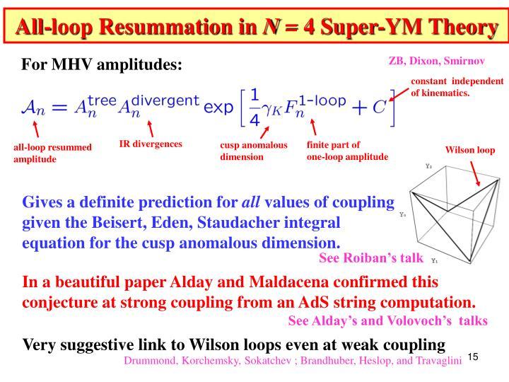 All-loop Resummation in