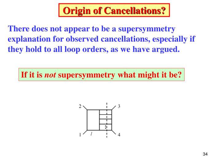 Origin of Cancellations?