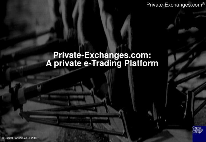 Private exchanges com a private e trading platform
