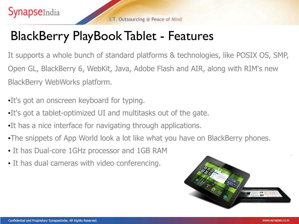 BlackBerry PlayBook Tablet - Features