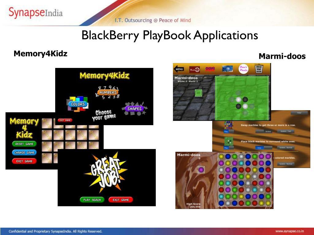 BlackBerry PlayBook Applications