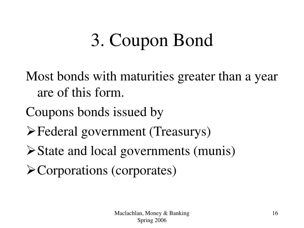 3. Coupon Bond