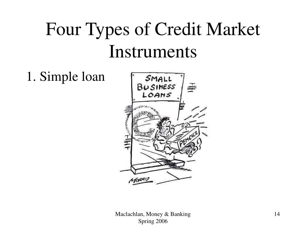 Four Types of Credit Market Instruments