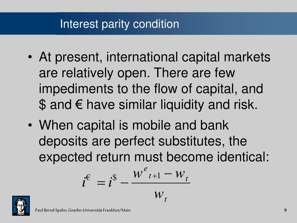 Interest parity condition