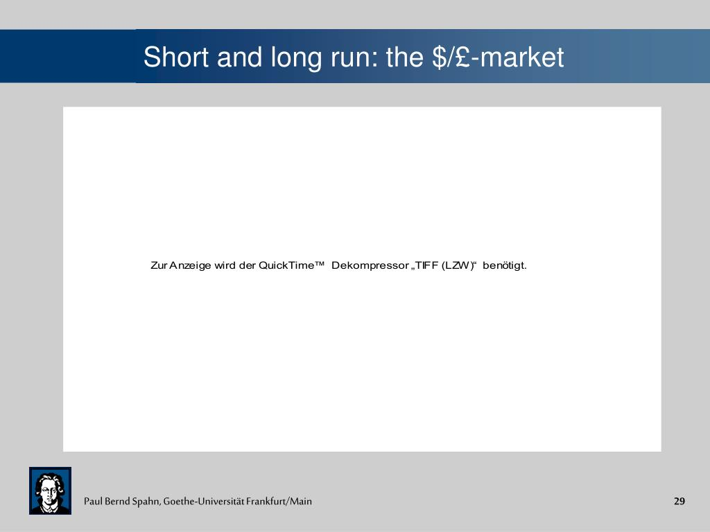 Short and long run: the $/£-market