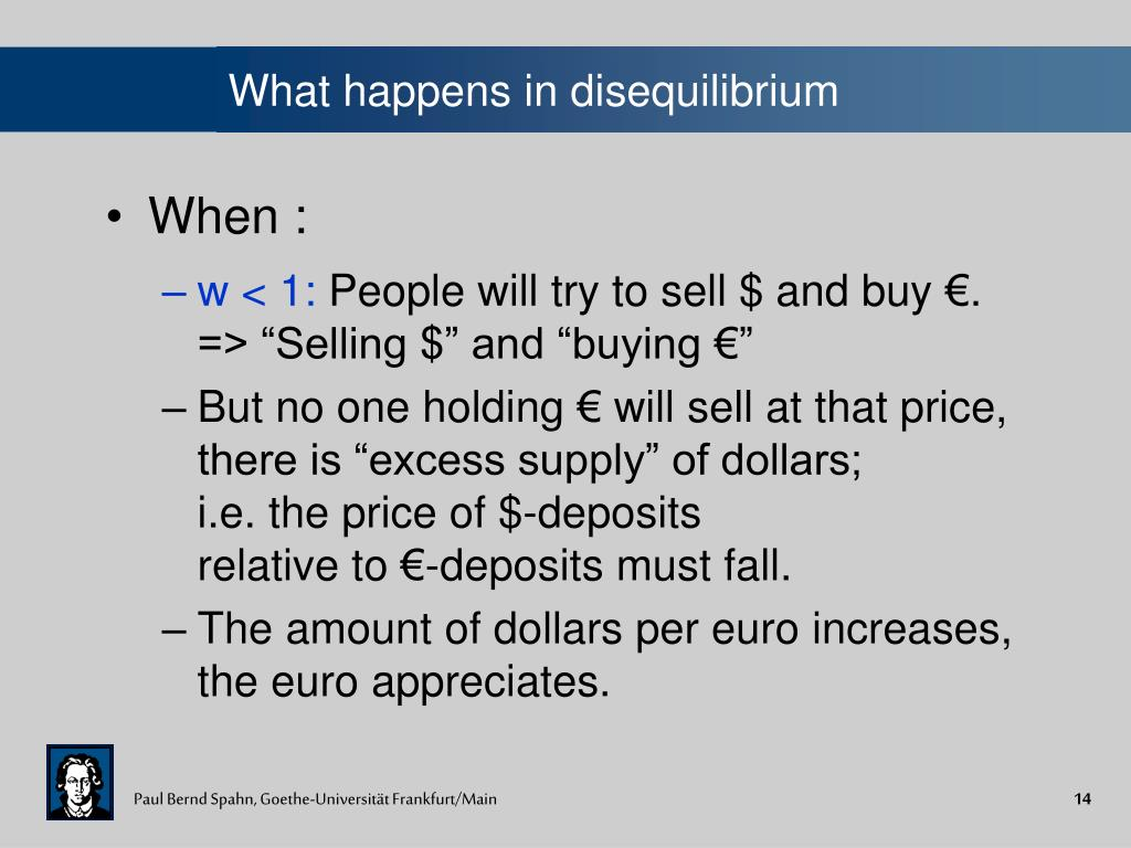 What happens in disequilibrium