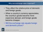 why are exchange rates important